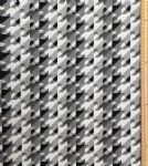 Black and white pattern Fabric UK 80% Cotton 20% Poly material upholstered feel - Price Per Metre